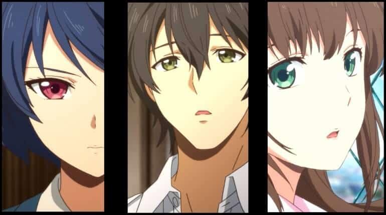Triangulo Amoroso de Domestic na Kanojo: Natsuo, Rui e Hina