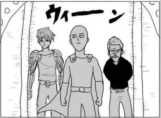 Saitama, Genos e Silvar Fang muito mal desenhados
