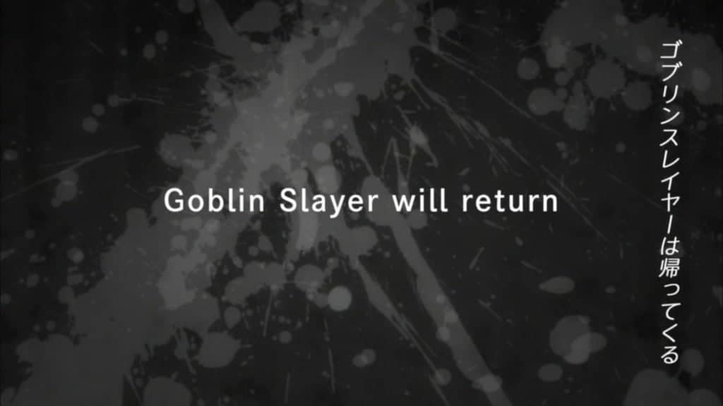 Mensagem do final de Goblin Slayer