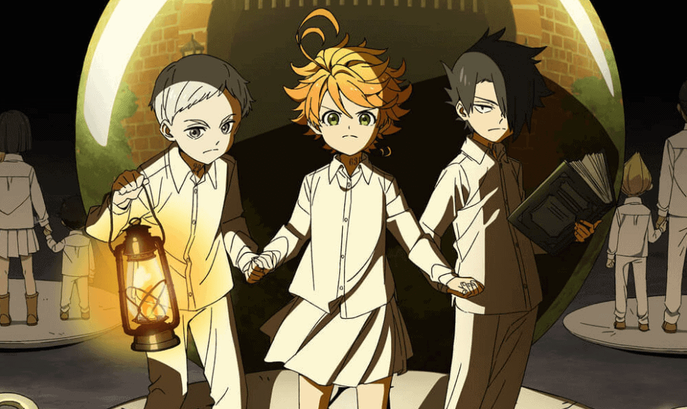 Norman, Ray e Emma da obra The Promised Neverland