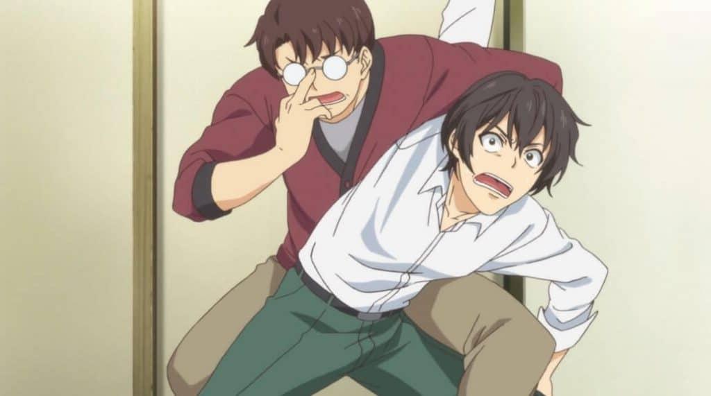 Natsuo e seu amigo que não teve o merecido foco no anime Domestic Girlfriend