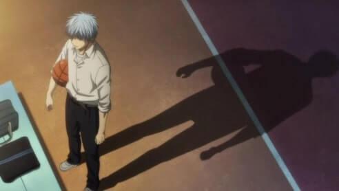 Sombra do Kuroko segurando uma bola