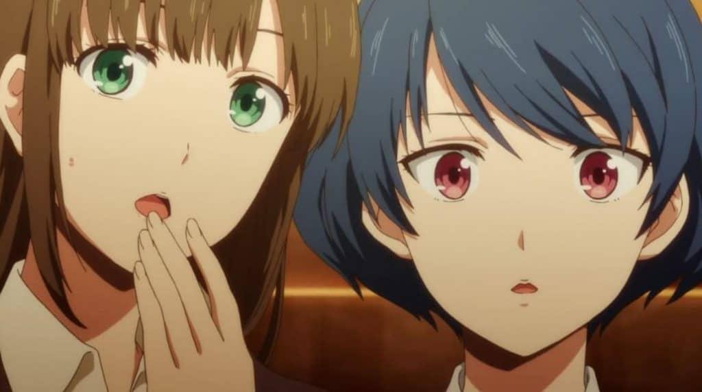 Hina e Rui surpresas