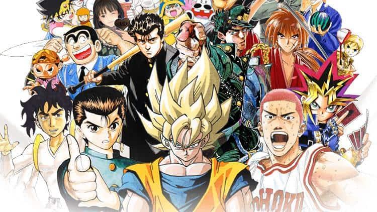 Diversos protagonistas de renome da Shonen Jump