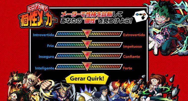 Quiz do My Hero Academia traduzido pelo Jovem Nerd