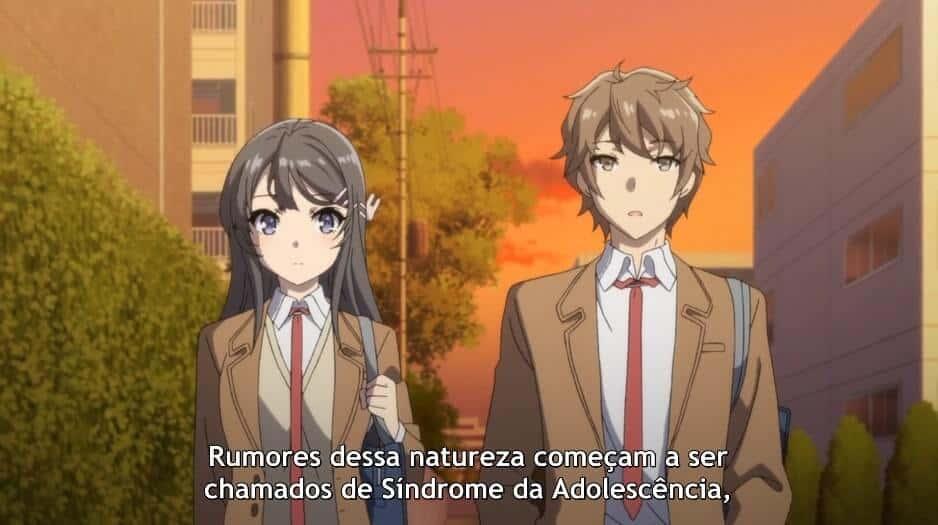 Sakuta e Mai conversando sobre a Sindrome