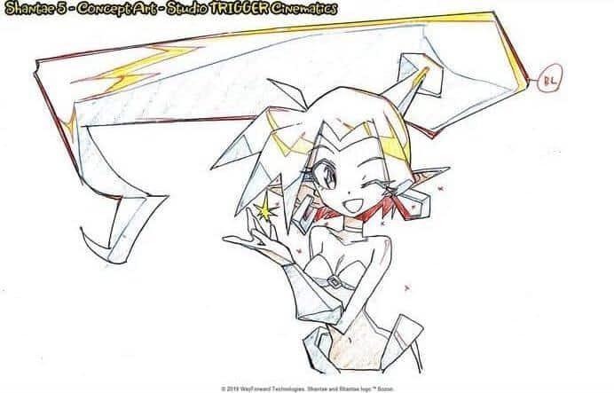 Primeiros esboços Shantae