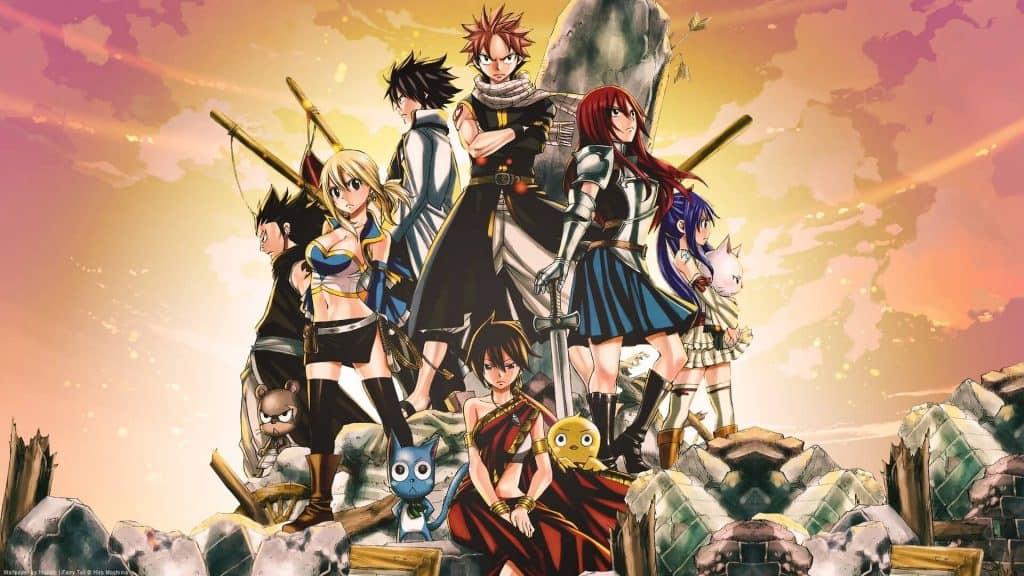 Arte do elenco de Fairy Tail