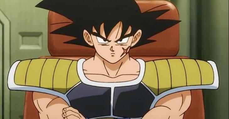 Bardock, aparição em nave no filme Dragon Ball Super Broly