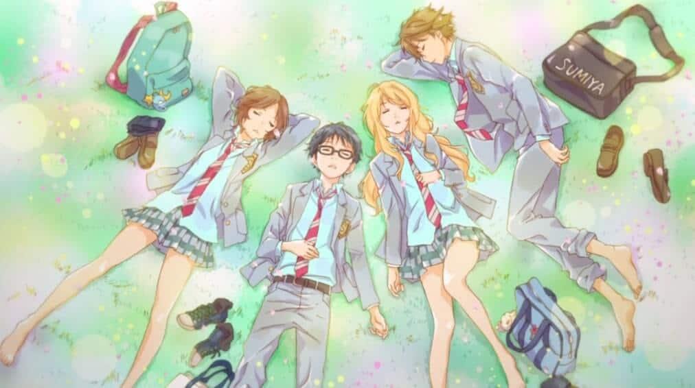 Protagonistas de Shigatsu wa kimi no uso