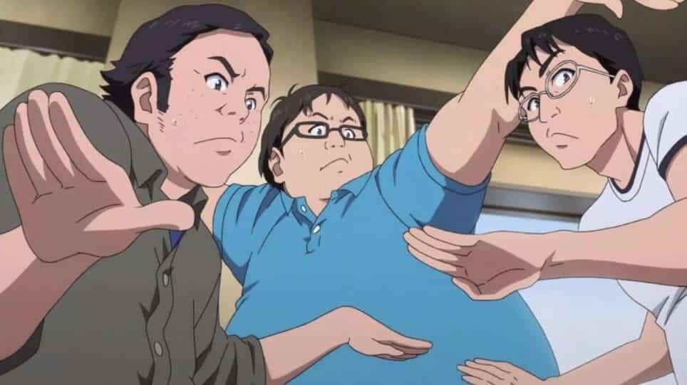 Personagens de Shirobako bem assustados