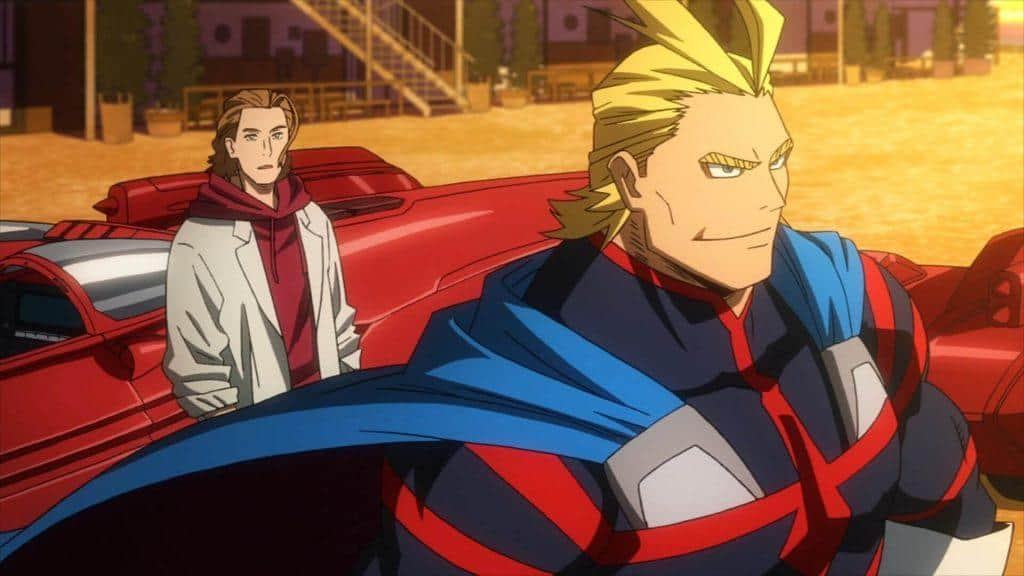 My Hero Academia: Two Heroes, All Might e Dave no passado