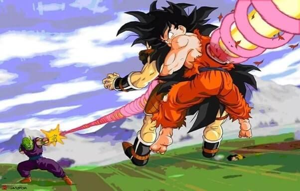 Goku morrendo para o ataque de Piccolo