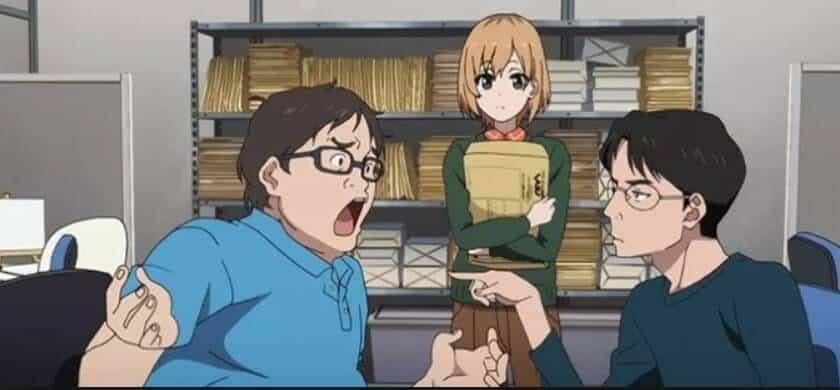 Aoi decepcionada com o diretor chato do anime