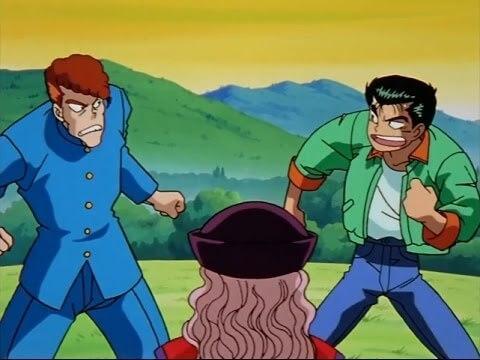 Yusuke começando as aventuras com Kuwabara
