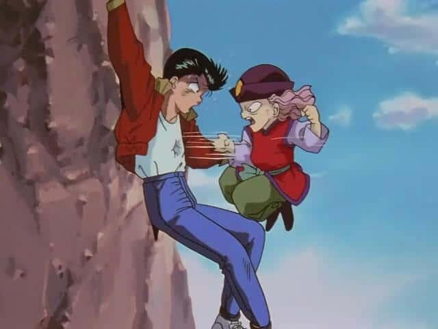 Genkai treinando o Yusuke