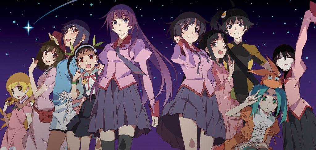 Guia completo da série de animes Monogatari