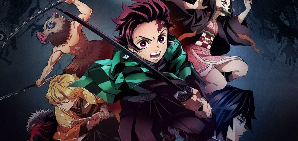 Turma do Demons Slayer, Tanjiro, Nezuko, Inosuke, Zenitsu