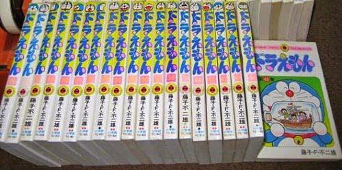 Mangás em Tonkohon de Doraemon