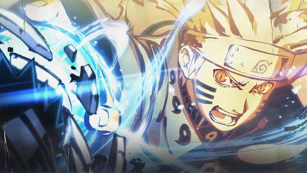 Naruto, dando um Rasengan Muito Bravo