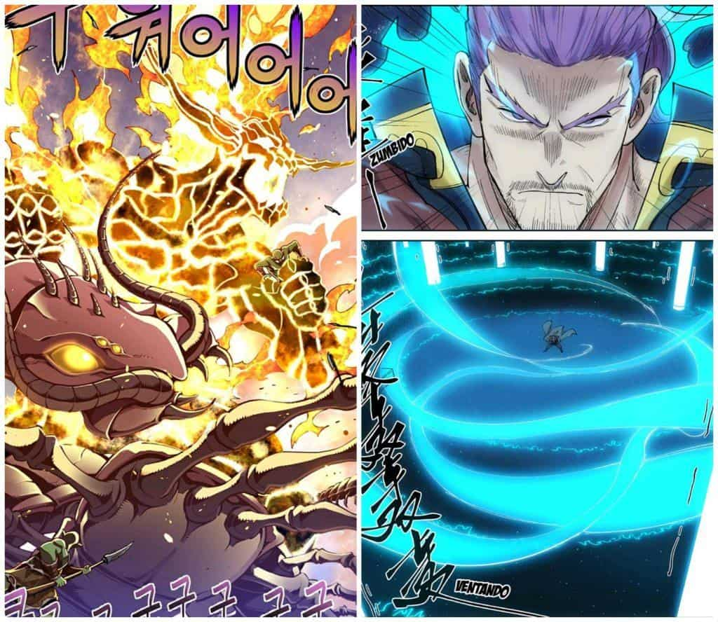 The Legendary Moonlight Sculptor e Tales of Demons and Gods, dois manhwas coloridos