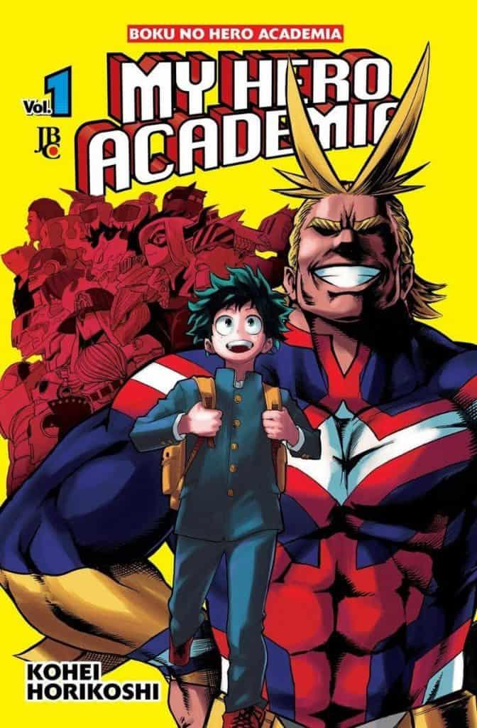Primeira capa do mangá Boku no Hero Academia