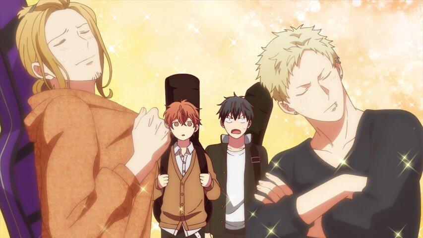 Kaji, Haruki, Ritsuka e Mafuyu em given