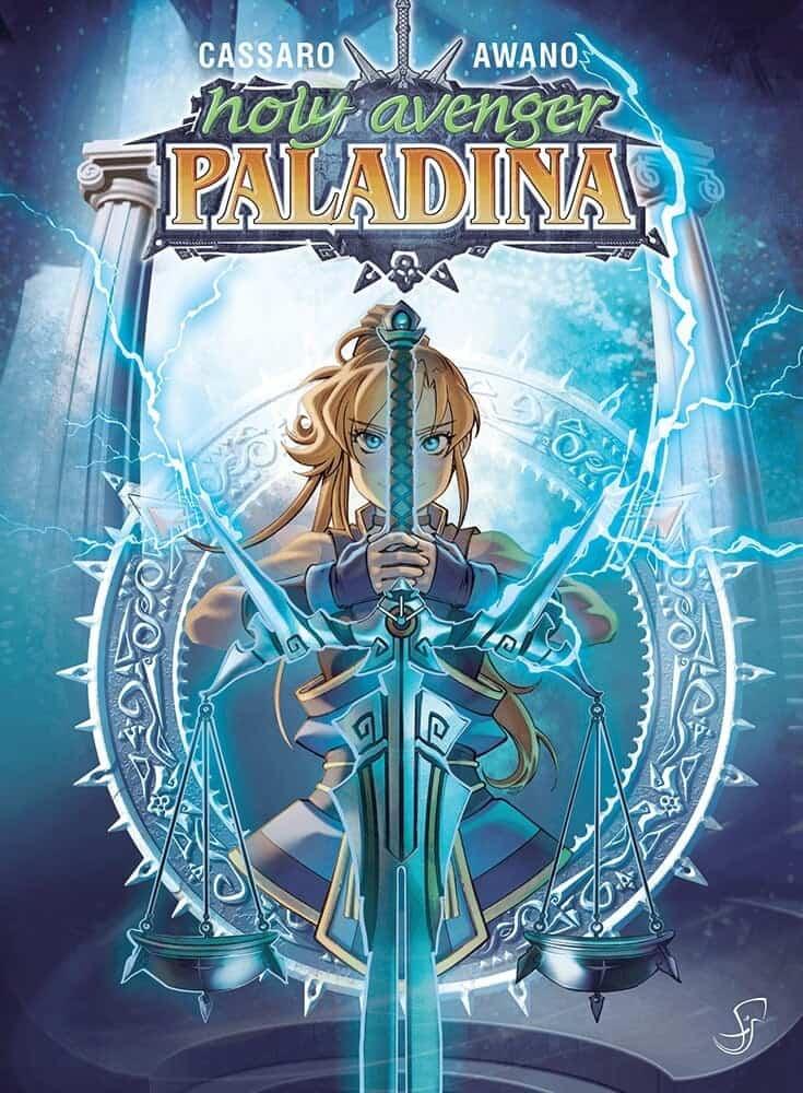 Holy-Avenger-Paladina-Capa-Visual com protagonista na frente