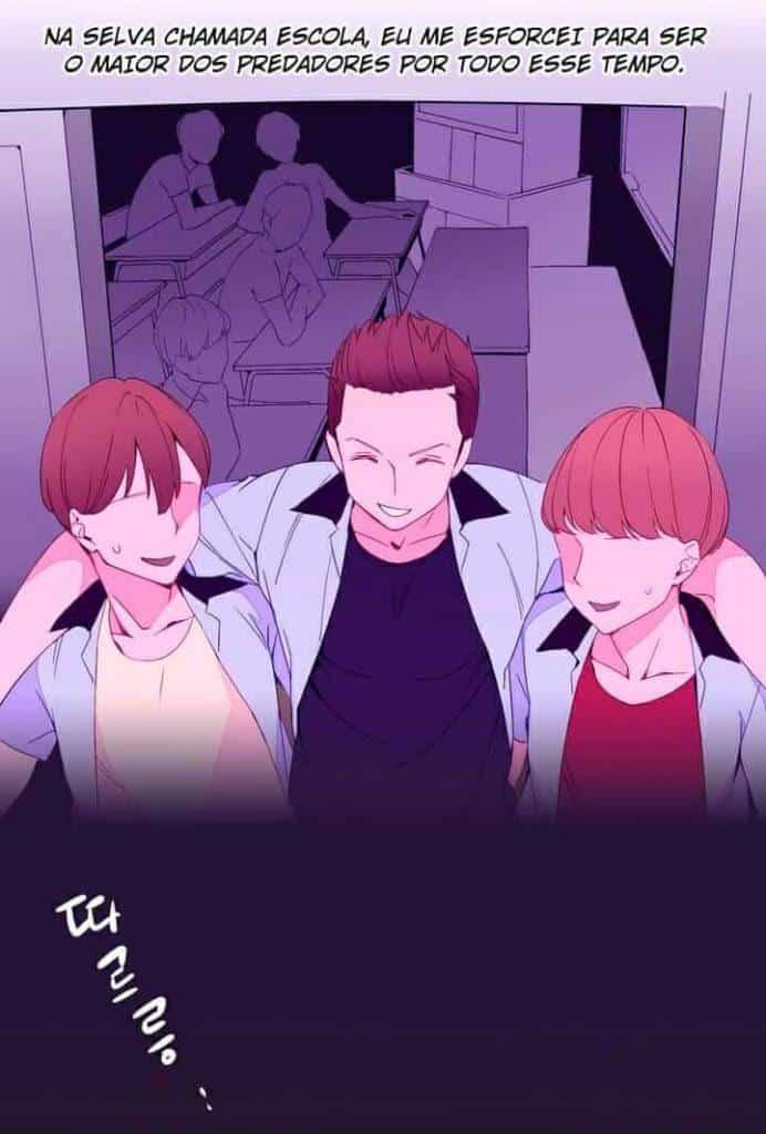 Lee Chi-Do com seus amigos na escola