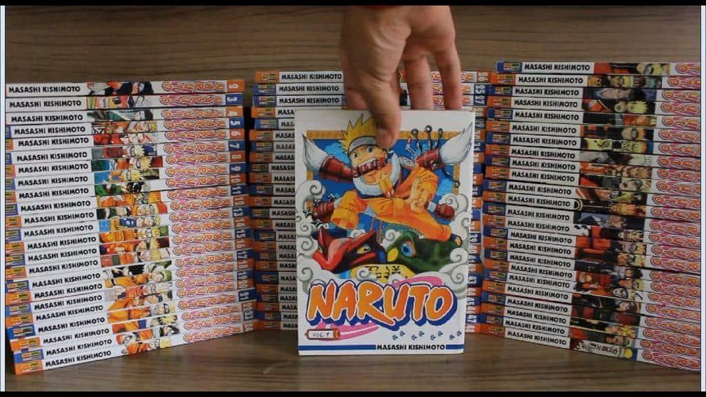 Mangá de Naruto, empilhados