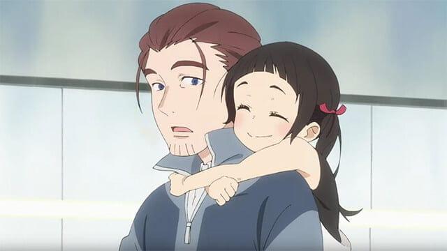 Rikka com seu pai