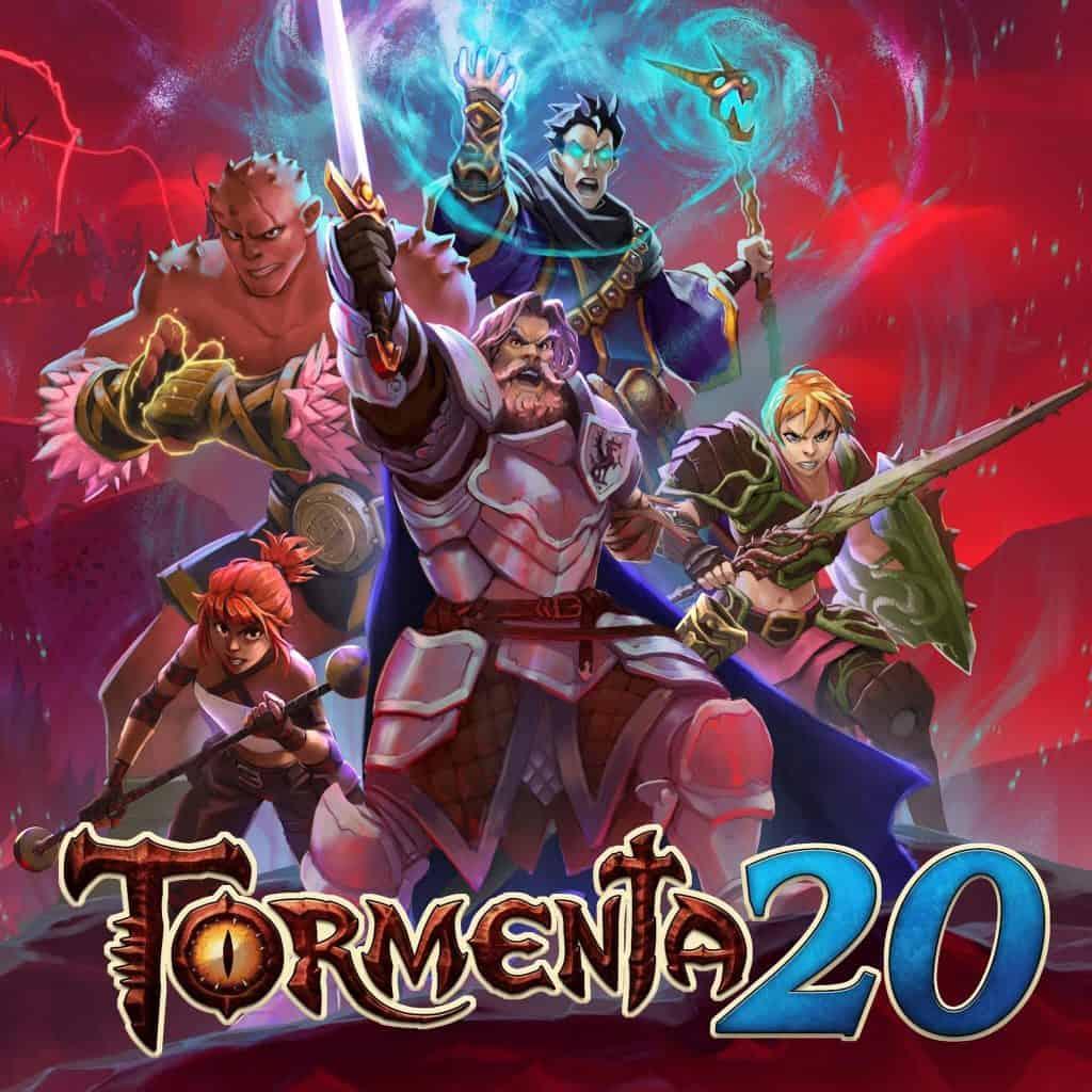 Tormenta-20-evento anuncio com visual cheio de personagens
