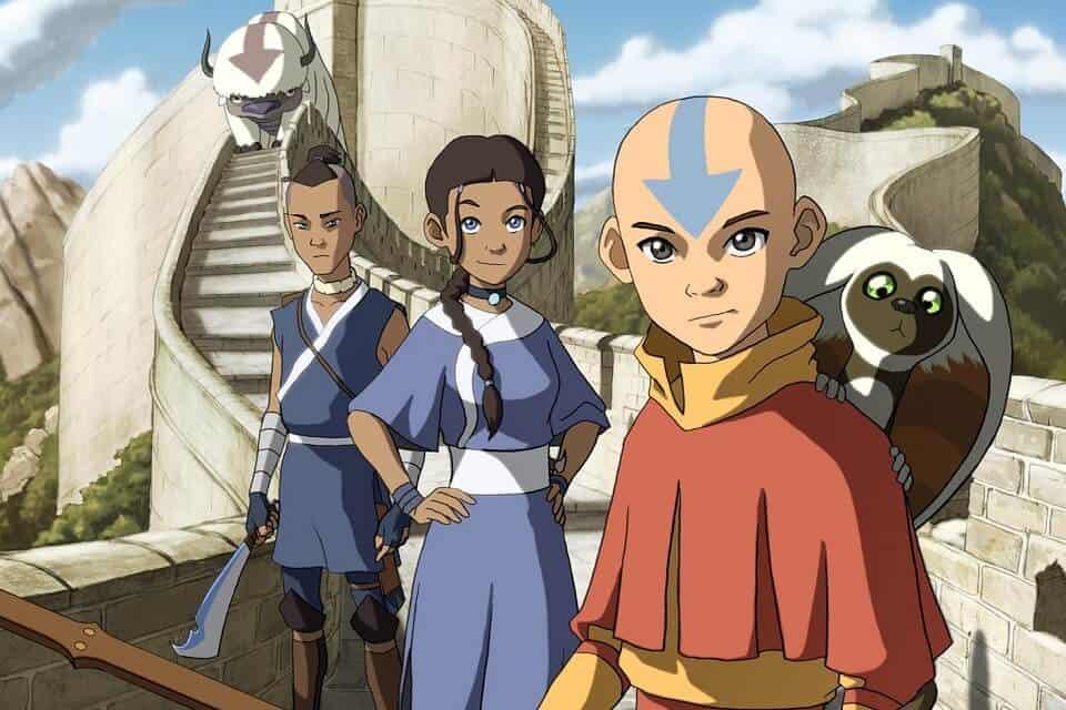 avatar a lenda de aang personagens encarados
