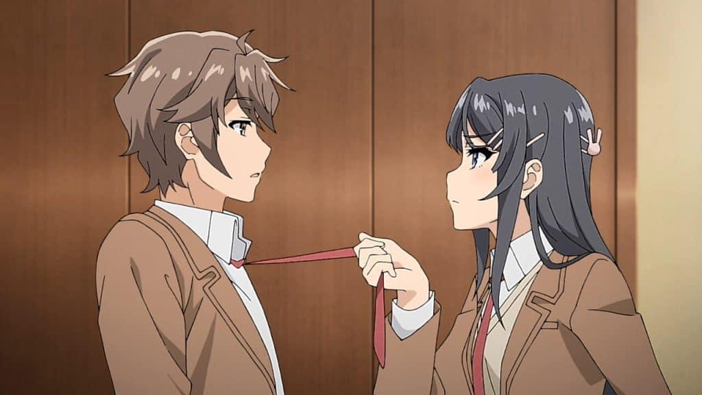 Sakuta e Mai, na primeira temporada de Bunny Girl
