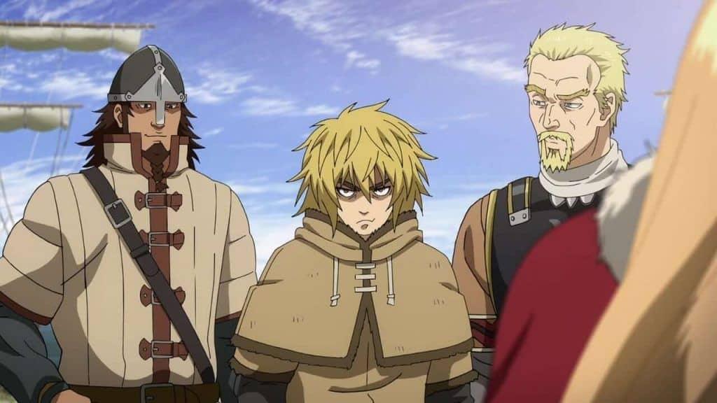 Vinland Saga Thorfinn e outros personagens