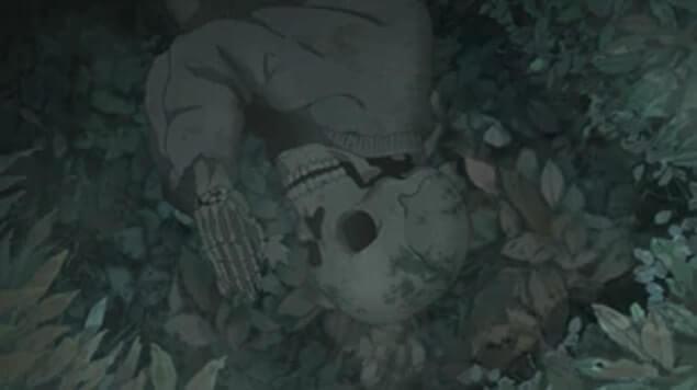 Esqueleto em Oração diretamente do Abismo de Made in Abyss