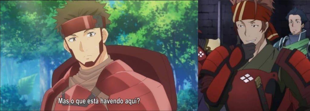 A esquerda: Kuromu. A direita, Klein, de SAO. Ambos utilizando uma armadura samurai muito parecidas