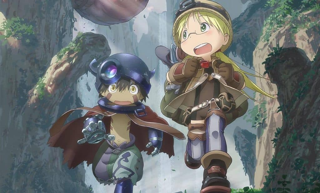 Made in Abyss poster com personagens
