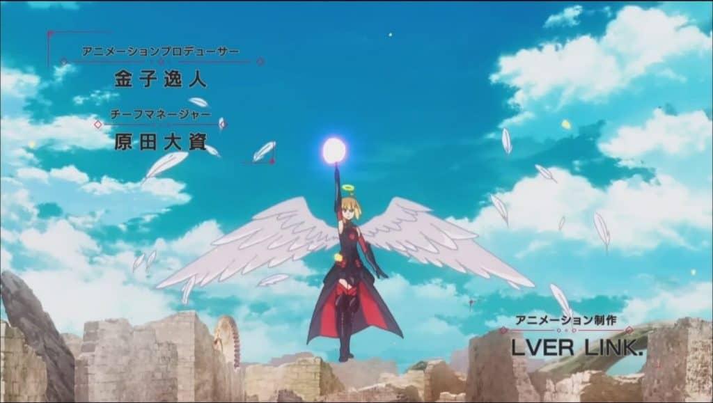 Maple forma suprema voando e com asas de anjoem BOFURI