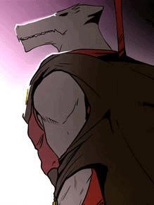 Rak de costas segurando sua lança