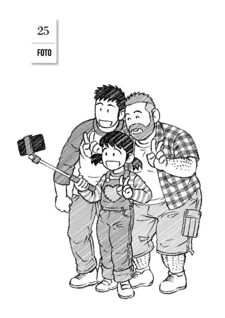 Yaichi-Kana-e-Mike, elenco de Ototo no Otto reunido para uma selfie