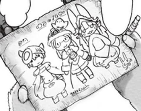 desenho de nanachi em made in abyss