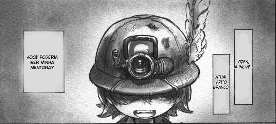lyza de capacete em made in abyss