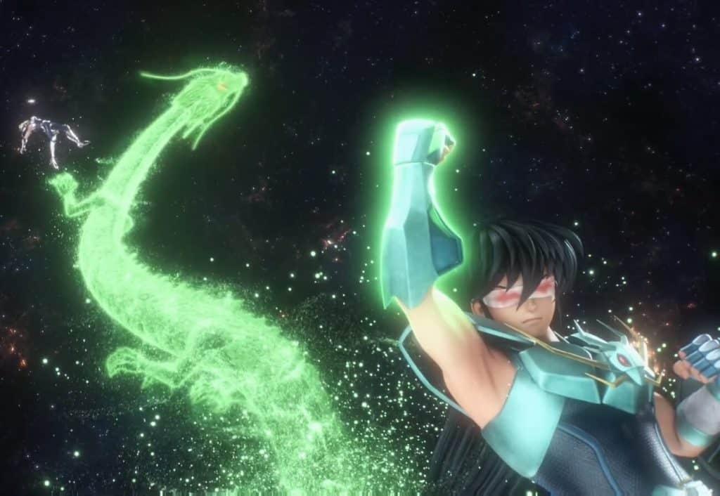 Shiryu cego no trailer dos cavaleiros do zodiaco