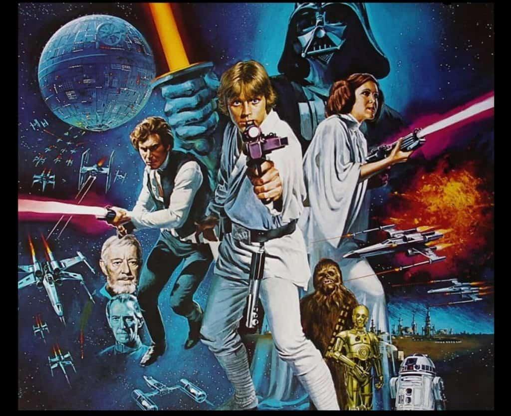 star wars uma nova esperança filme com cg com luke na capa