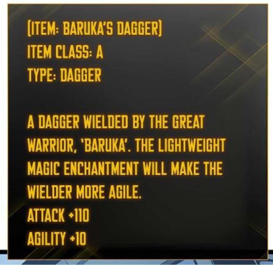 Jin-Woo Baruka Dagger
