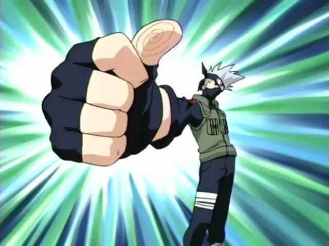 Kakashi Agradecendo com o polegar em naruto