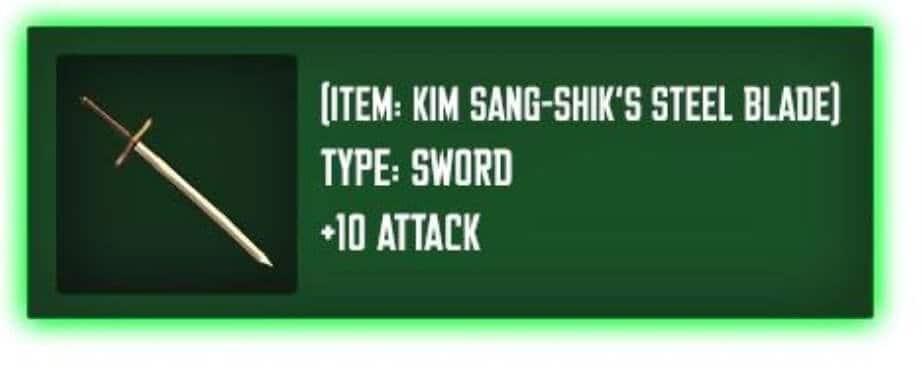 Espada Jin-Woo Kim Sangshik's Steel Blade