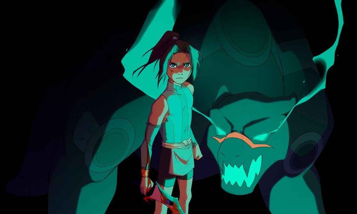Onyx Equinox anime da Crunchyroll Originals garota com uma fera