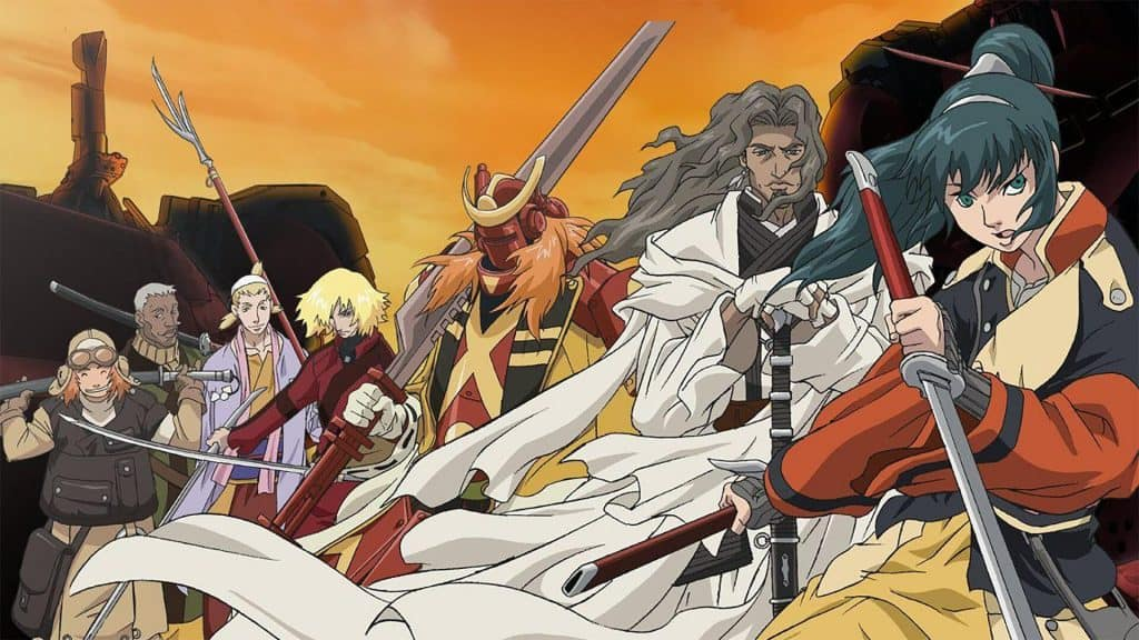 Capa do anime os sete samurais.